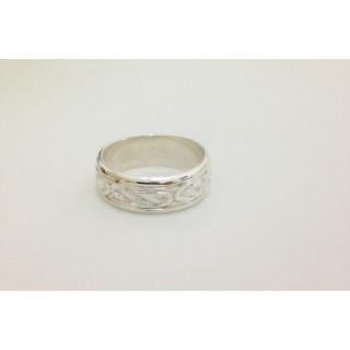 Anel aliança Celta artesanal em prata 950.