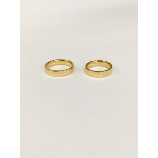 Alianças em ouro 750 Mariana e Wagner.