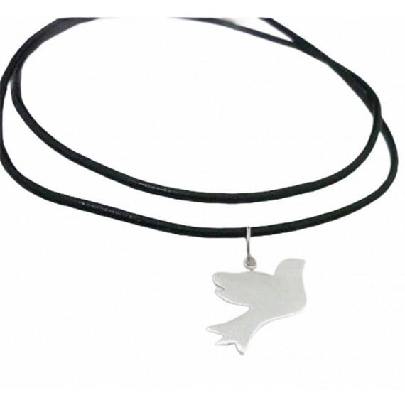 Pássaro de São Francisco de Assis em prata fosca.